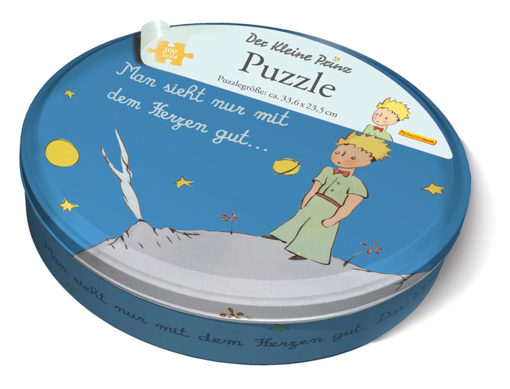 der kleine prinz puzzle in metall geschenkbox von ngv. Black Bedroom Furniture Sets. Home Design Ideas